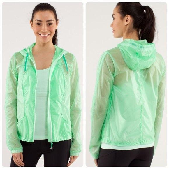 Lululemon Transparent See Jacket Green